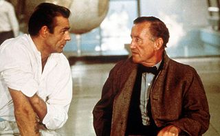 Sean-Connery-on-the-set-of-Goldfinger-with-Ian-Fleming